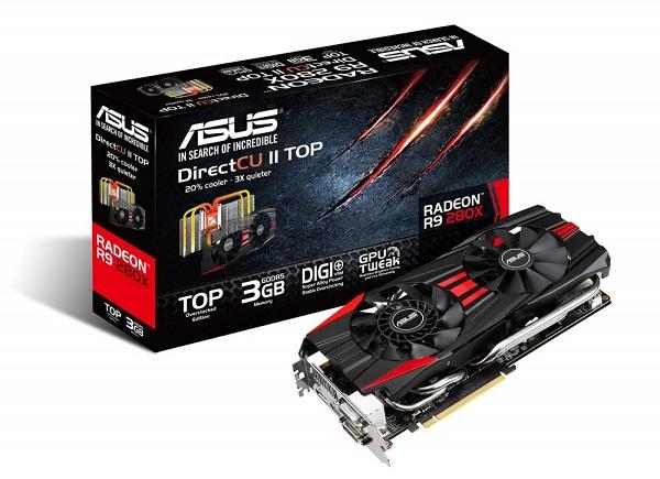 Karta graficzna ASUS Radeon R9 280X GDDR5 384bit 3GB